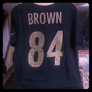 Antonio Brown NFL Steelers Black & Gold T-Shirt
